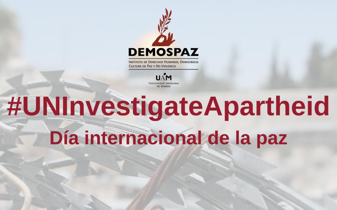 Día Internacional de la Paz, un momento para avanzar en los derechos del pueblo palestino